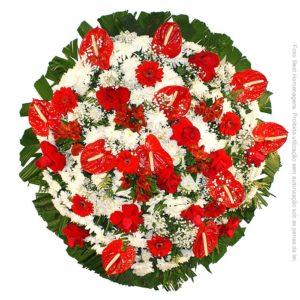 Coroa de Flores Luxo Vermelha